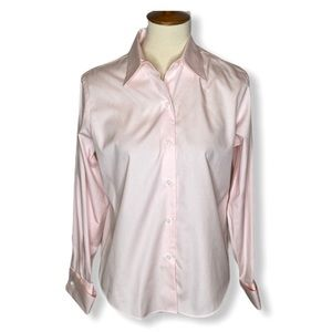 Brooks Brothers Pink Cotton Button Up Shirt Sz 8P
